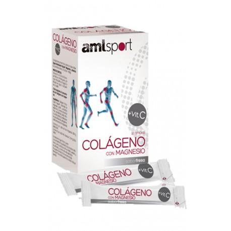 Colageno Con Magnesio + Vitamina C (12 sobres) Amlsport