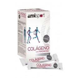 Colageno Con Magnesio + Vitamina C (20 sobres) Amlsport