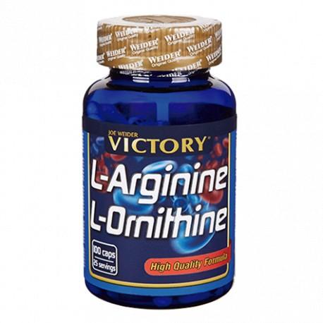 L-arginine - L-ornithine (100 capsulas) Victory Endurance