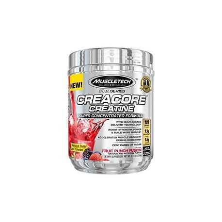 Creacore Creatina 120 servicios -Ponche de Frutas- de Muscletech