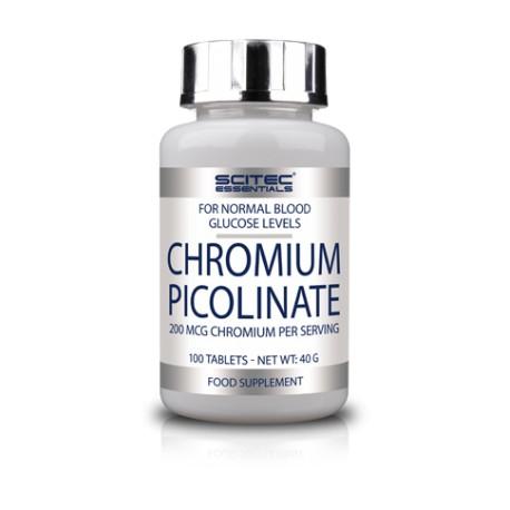 Chromium Picolinate -100 tabletas- de Scitec Essentials