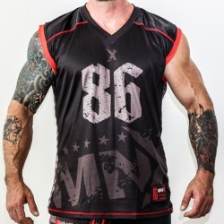 MNX SLEEVELESS JERSEY NO. 86, RED (Mnx Sportswear)