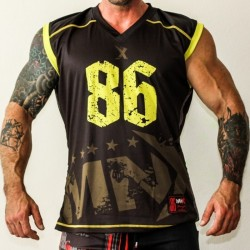 MNX SLEEVELESS JERSEY NO. 86, YELLOW (Mnx Sportswear)