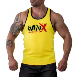 MNX YELLOW RIBBED TANK TOP (Mnx Sportswear)