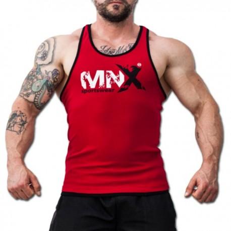 MNX RED&BLACK RIBBED TANK TOP (Mnx Sportswear))