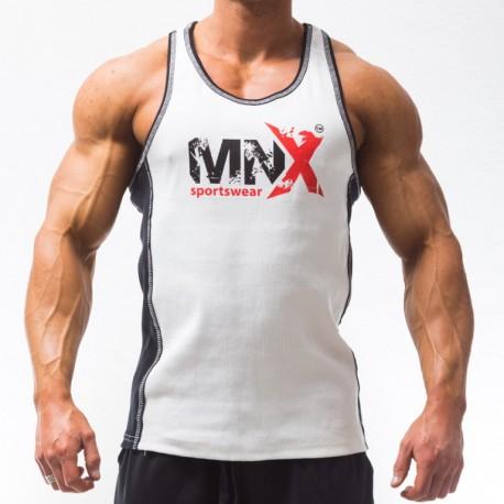 MNX WHITE RIBBED TANK TOP (Mnx Sportswear))