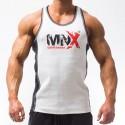 MNX WHITE RIBBED TANK TOP (Mnx Sportswear)