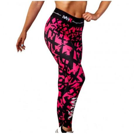 MNX WOMEN'S LEGGINGS PINK LEOPARD (Mnx Sportswear)