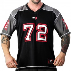 FOOTBALL TEE MNX NO. 72, BLACK & GREY (Mnx Sportswear)