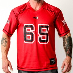 FOOTBALL TEE MNX NO.65, RED (Mnx Sportswear)
