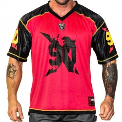 FOOTBALL TEE MNX NO. 90, RED (Mnx Sportswear)