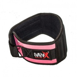 MNX WOMEN'S GYM BELT PINK&BLACK BASIC (Mnx Sportswear)