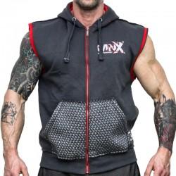 MNX SLEEVELESS HOODIE, GREY (Mnx Sportswear)