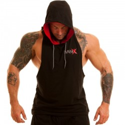 MNX HOODED TANK TOP, BLACK (Mnx Sportswear)