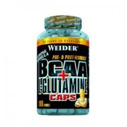BCAA + L-Glutamine (180 cápsulas) de Weider