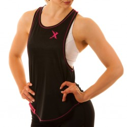 MNX Women's Stringer Tank Top Pink & Black (Mnx Sportswear)
