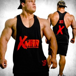 MNX Stringer Tank Top XMAN. Black (Mnx Sportswear)