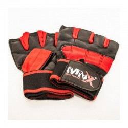 Fitness Wristwraps Gloves Red (Mnx Sportswear)