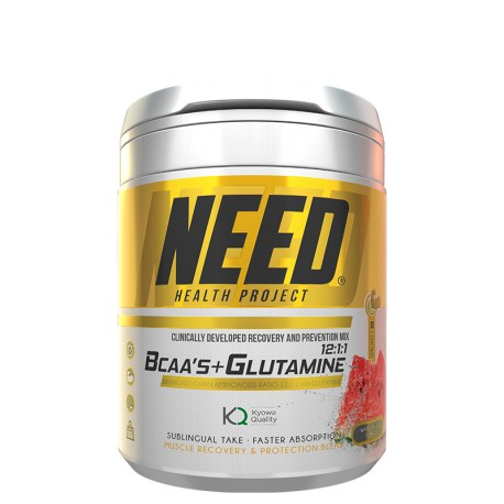 Need Bcaas & Glutamine (37 servings) de Need Health Project