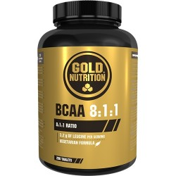 BCAA 8:1:1 - (200 tabs) de Gold Nutrition