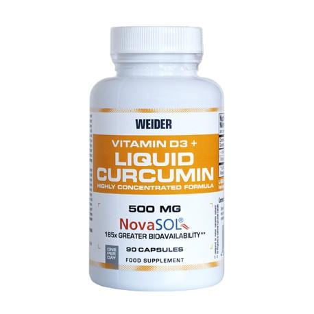 Liquid Curcumin Vitamina D3(90 capsulas) Weider