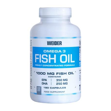 Omega 3 Fish Oil (180 capsulas) Weider