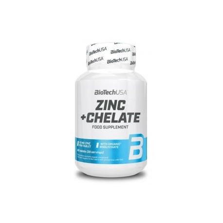 Zinc+Chelate(60 tabletas)BioTechUSA