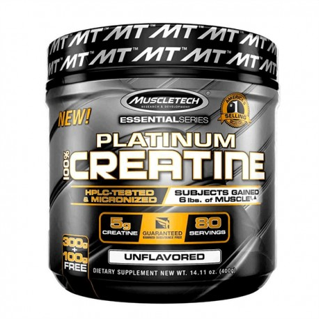 Platinum 100% Creatine (400 Gramos)