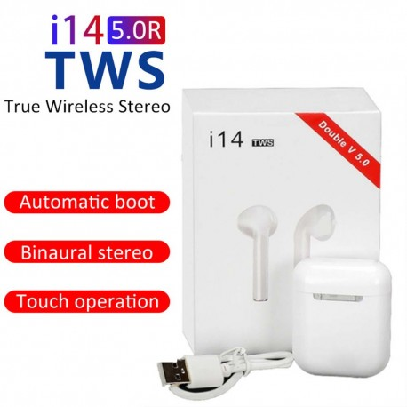 i14 TWS auriculares inalámbricos Bluetooth