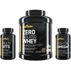 Pack Zero Whey Protein Isolate (2 kg) + Multi-Vits (60 caps) + Fish Oil Omega 3 (90 caps) Big Man