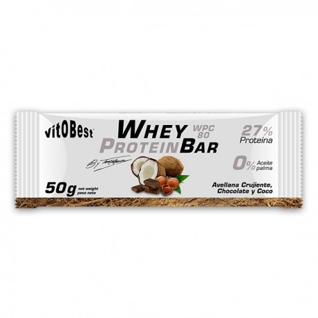 Whey Protein Bar (1 barrita x 50gr) VIT.O.BEST