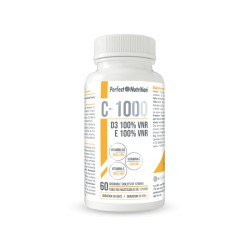 C-1000 + D3 + E (60 Capsulas) PERFECT NUTRITION